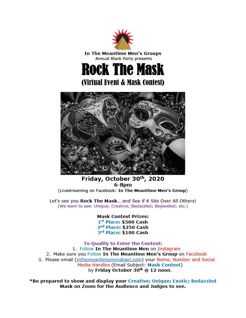 itmt black party mask event